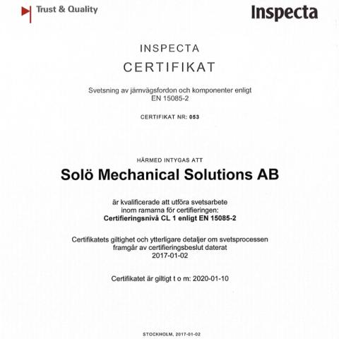 Certifikat 15085